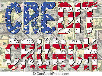 Credit Crunch with American flag