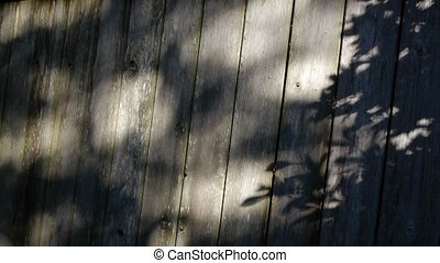 Shadows on fence - Shadow play on a fence