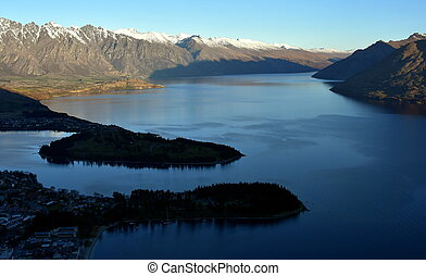 View of Queenstown and The Remarkables, Queenstown New...