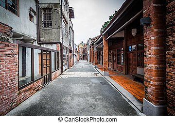 Street at the Bopiliao Historical Block, in the Wanhua...