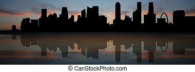 Singapore skyline at sunset - Singapore skyline Panorama...