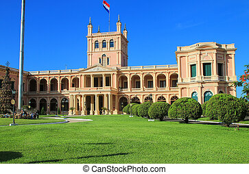 Presidential Palace in Asuncion, Paraguay. It serves as a...