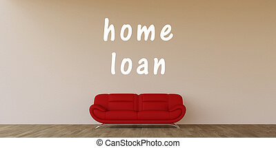 Home Loan Concept with Home Interior Art