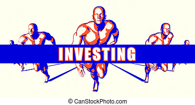 Investing as a Competition Concept Illustration Art