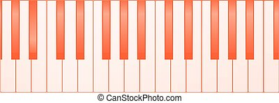 鋼琴, 鑰匙, 背景
