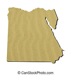 Egypt map with sand