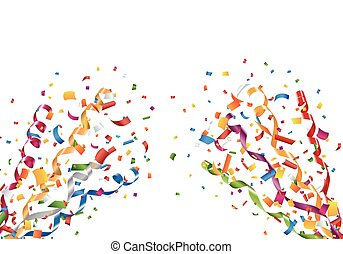 Exploding party confetti and streamers - Vector EPS 10...