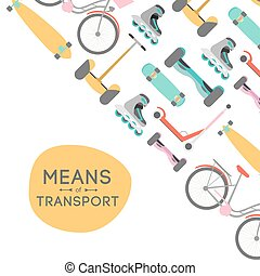 Means of transport background illustration - Means of...