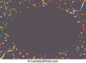 Confetti and streamer frame - Vector EPS 10 format.
