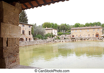 Bagno Vignoni in Val dOrcia, Tuscany, Italy - The Square of...