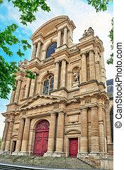 St-Gervais-et-St-Protais Church of Paris located on Place...