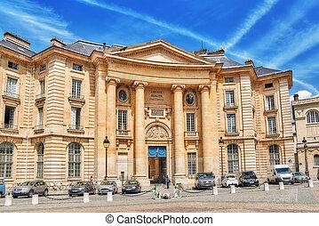 PARIS, FRANCE - JULY 08, 2016 : Pantheon-Sorbonne University...