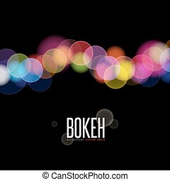 Abstract vector background and Blurred Lights on black...