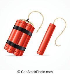 Detonate Dynamite Bomb Set Vector - Detonate Dynamite Bomb...