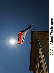 Czech flag - The Czech flag flapping in the wind