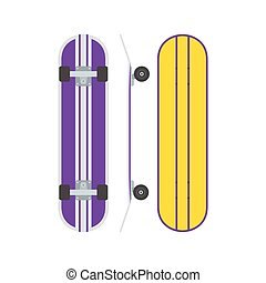 Skatedboard Desk Set - Modern skate board from different...