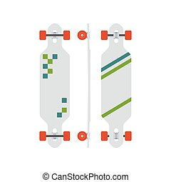 Modern Longboard Desk Set - Modern longboard from different...