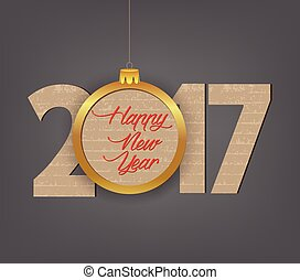 Creative happy new year 2017 design