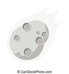 Asteroid, Flat design, vector illustration, isolated on...