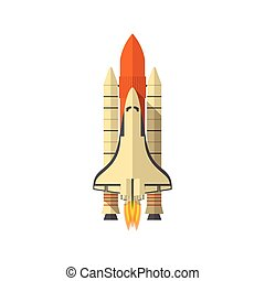 Space Shuttle, Flat design, vector illustration, isolated on...