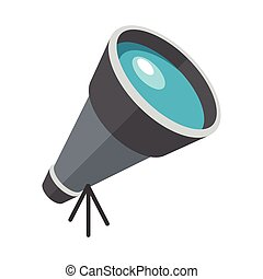 Telescope, Flat design, vector illustration, isolated on...
