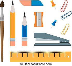 stationery - Flat set of color stationery