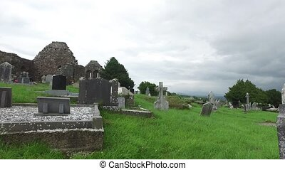 old celtic cemetery graveyard in ireland 64 - ancient...