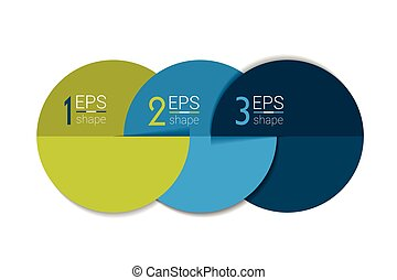 Three business elements banner, template 3 steps design,...