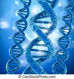 DNA molecule concept, Medical accurate 3D illustration