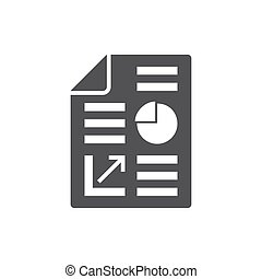 Business report icon, flat design