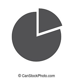 Pie chart icon (flat design)
