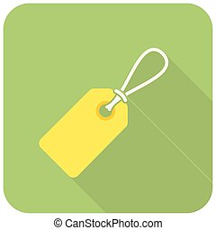 Price tag (flat design with long shadows)