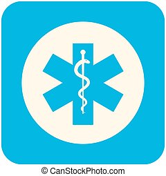 Star of Life icon - Star of Life, modern flat icon