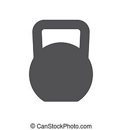 Kettlebell icon - Kettlebell, modern flat icon