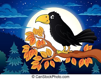 Crow theme illustration.