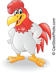 Cartoon rooster posing - illustration of Cartoon rooster...