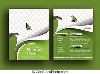 Dental Lab Front Flyer & Poster Template.