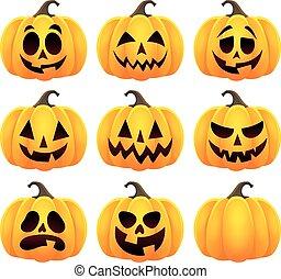 Halloween pumpkins theme