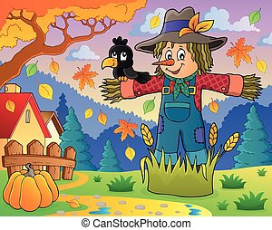 Scarecrow theme image 2 - eps10 vector illustration.