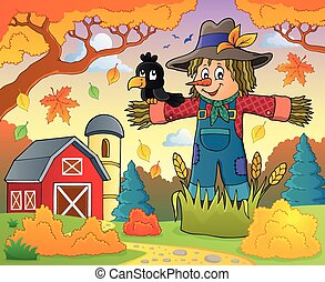 Scarecrow theme image 3 - eps10 vector illustration