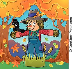 Scarecrow theme image 4 - eps10 vector illustration