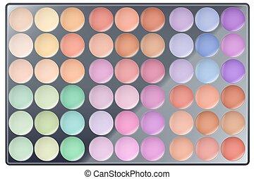 Big Colourful of Make Up Palette - Big Palette of Make Up...