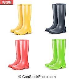 Set of rain boots
