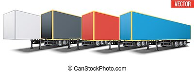 Banner of parked semi trailers - Banner of parked van semi...