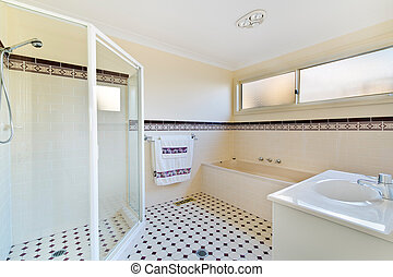 Bathroom of the luxurious house