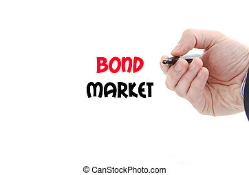 Bond market text concept isolated over white background