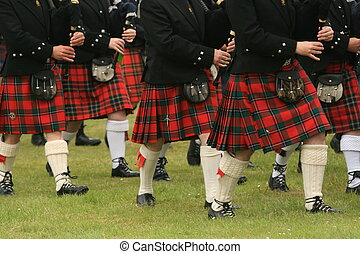 Kilts - Shot of the kilts during the Highland Games in...