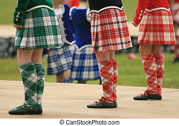 Highland Fling - Highland dance competition during the...