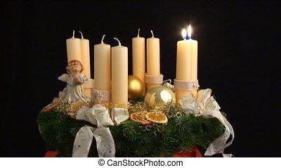 first advent loop - loop of advent wreath being lit