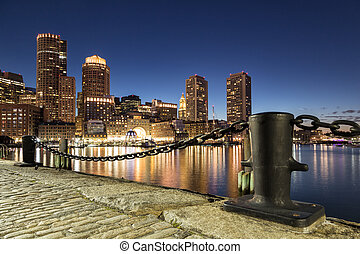 Night Shot of Boston - Night shot of Boston